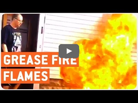 how not to put out a grease fire clipscat. Black Bedroom Furniture Sets. Home Design Ideas